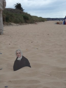 Flat Agnes at the D-Day landing sight on Omaha Beach, Normandy